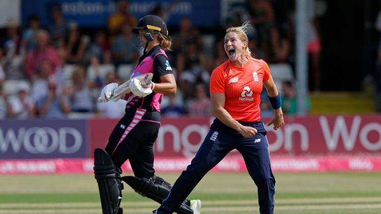 Katherine Brunt took six wickets in the T20 Tri-series against South Africa and New Zealand