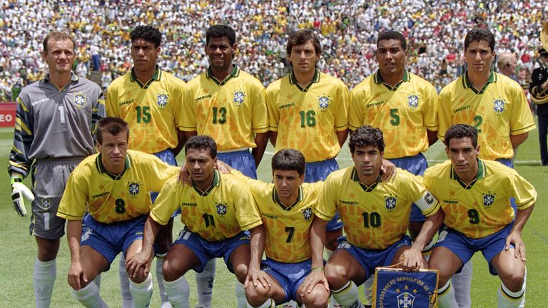 Leonardo (back row, fourth from left) was part of Brazil's World Cup-winning side in 1994