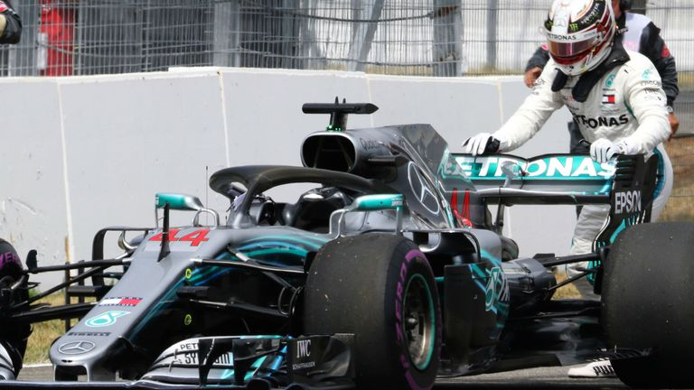 german gp lewis hamilton out of qualifying after suffering mercedes