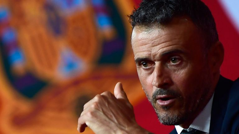Luis Enrique will make his bow as Spain coach at Wembley on Saturday