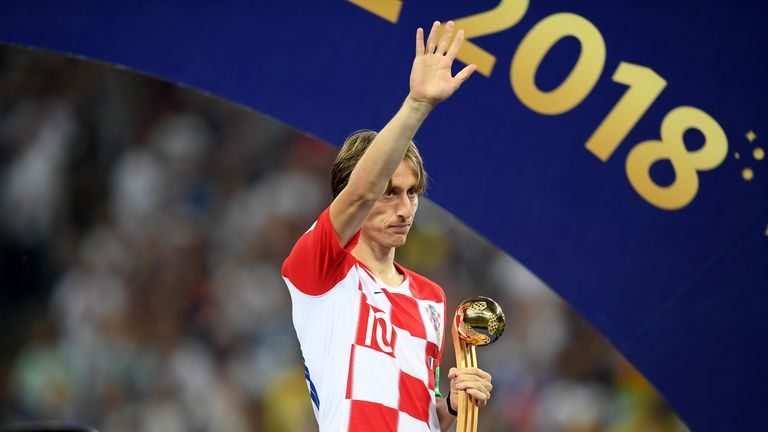 Luka Modric during the 2018 FIFA World Cup Final between France and Croatia at Luzhniki Stadium on July 15, 2018 in Moscow, Russia.