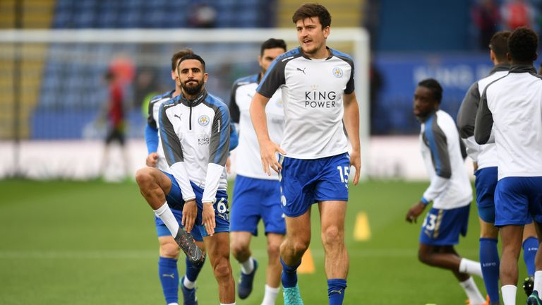Mahrez's new club Man City are thought to be admirers of Maguire