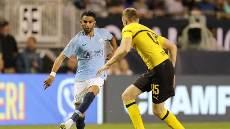 Riyad Mahrez made his first appearance for Manchester City