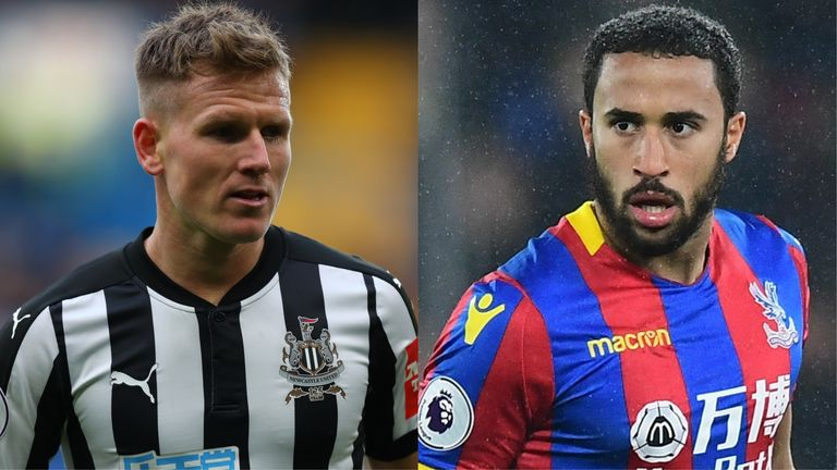 Stoke want Matt Ritchie (left) as Newcastle target Andros Townsend