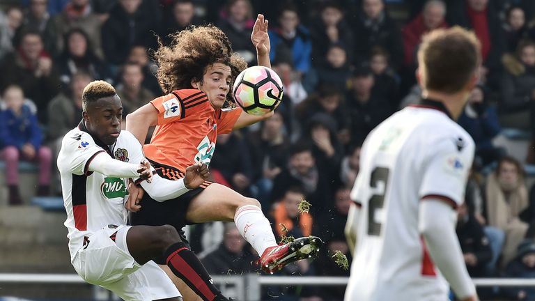 Matteo Guendouzi in action for FC Lorient