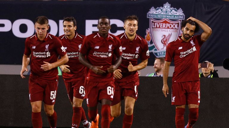 Mohamed Salah scored 52 seconds after coming of the bench as Liverpool beat Man City in New Jersey