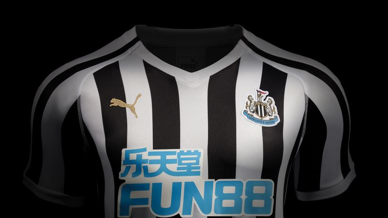 Newcastle United unveil their new home kit for the 2018 19 season (Puma) bcb45e54d