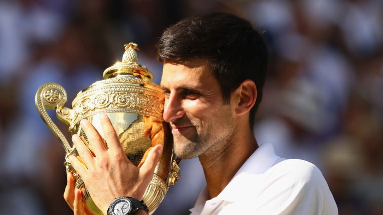 Novak Djokovic defends the title he won for a fourth time last year