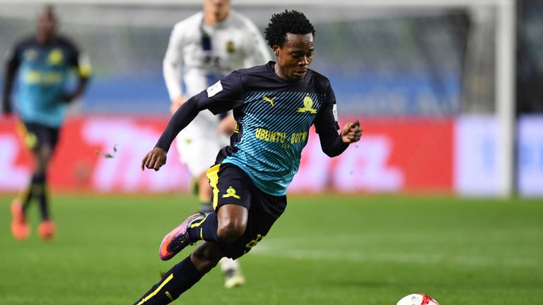 Percy Tau has been capped 12 times by South Africa