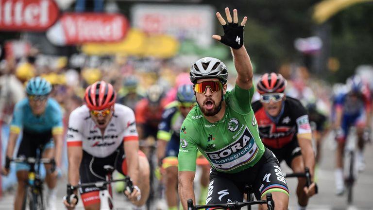 93b0832f8b8 Peter Sagan sprints to third win of 2018 Tour de France as Geraint ...