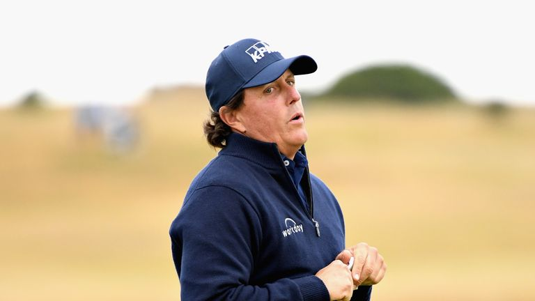 Phil Mickelson was disappointed to fire a level-par 70