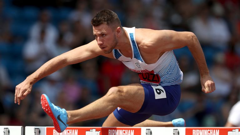 Andrew Pozzi is in the team after becoming British hurdles champion