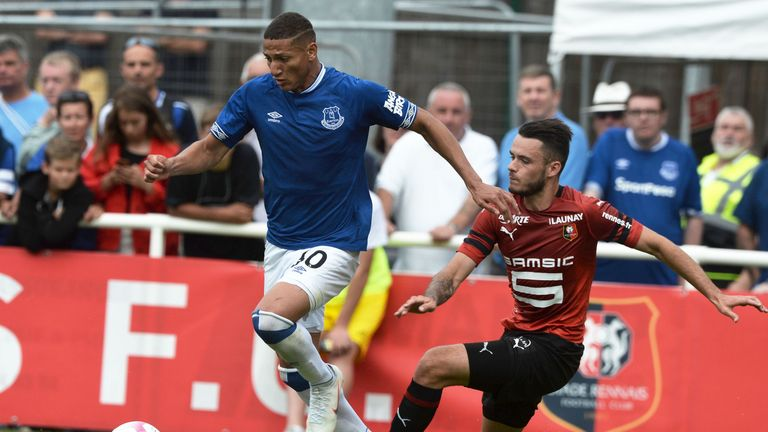 Richarlison scored in a friendly against Rennes on Saturday