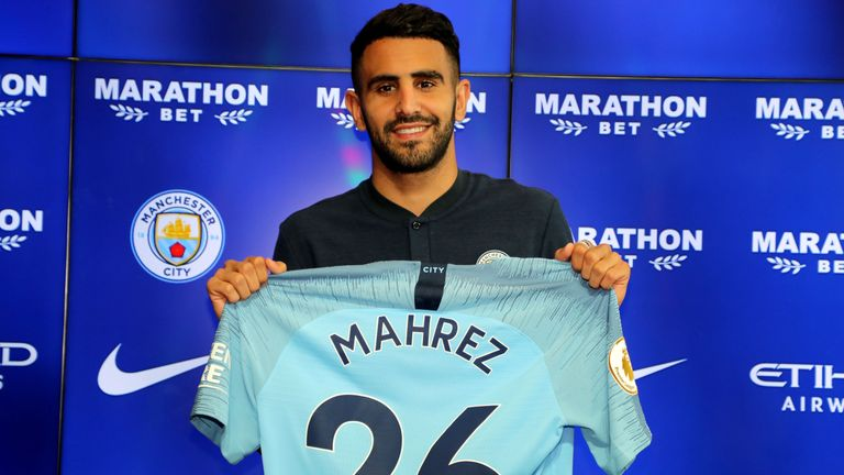 Riyad Mahrez finally became a Man City player in July, six months after four failed bids for the winger