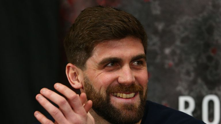 Rocky Fielding during a press conference at the Hilton Hotel on February 27, 2017
