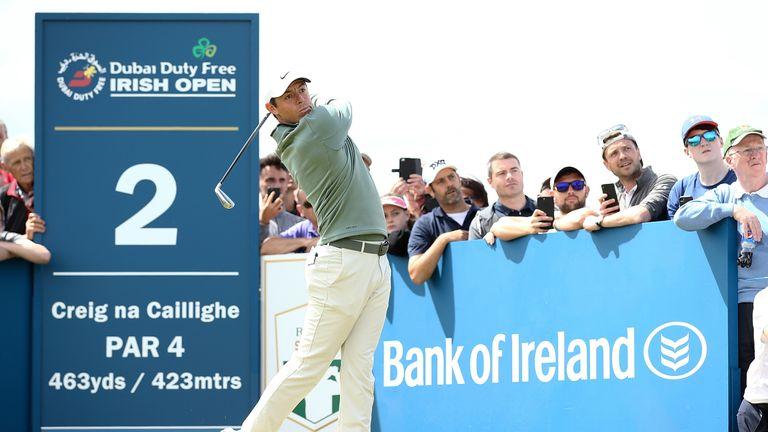 Rory McIlroy thanked the fans for their support of the Irish Open