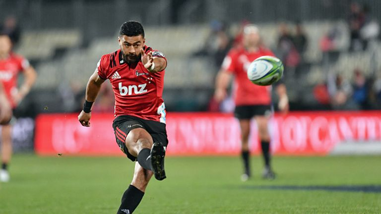Richie Mo'unga was in exceptional form during the Crusaders' win