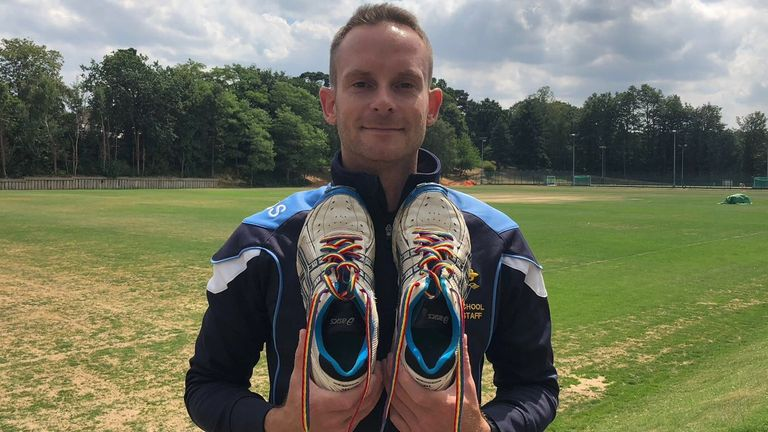 Sam Schofield has helped introduce Rainbow Laces to the school in south London where he works as Head of Cricket