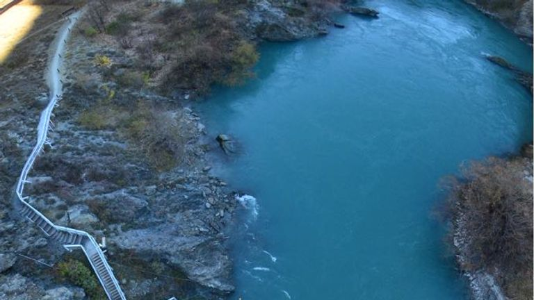 Bungie jumping in New Zealand was quite an experience for Samantha