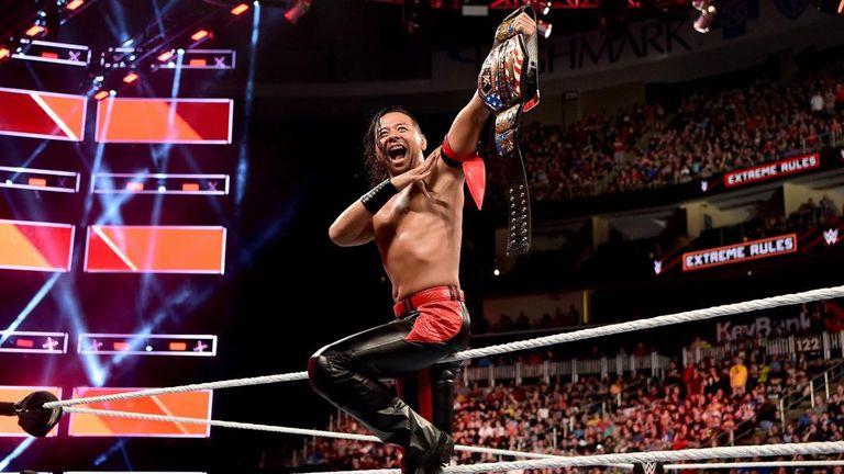 Shinsuke Nakamura won the United States championship from Jeff Hardy