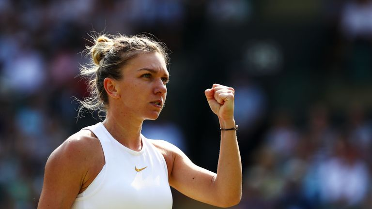Simona Halep reeled off 10 games in a row after falling behind 5-3 in the first set to beat Saisai Zheng
