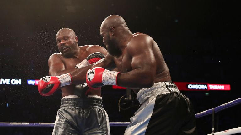 Takam lost a fight of the year contender against Derek Chisora in 2018