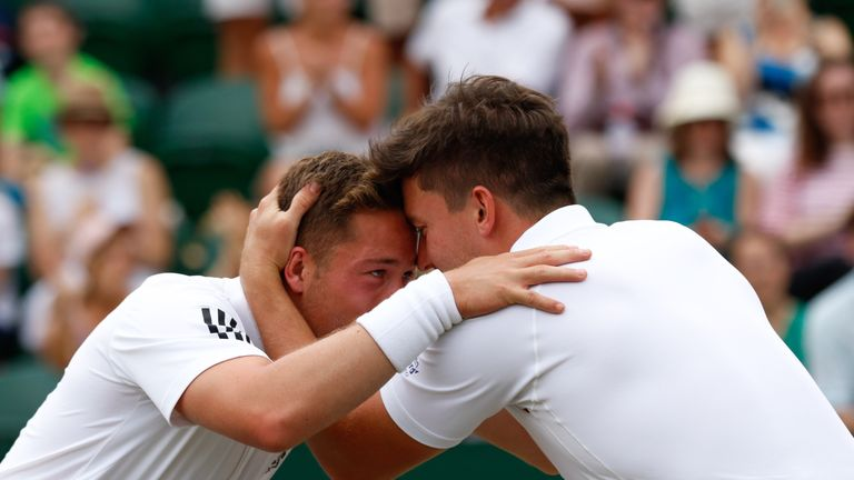Victory marked an eighth Grand Slam doubles title for Reid (R) and a fourth for Hewett (L) - Credit: Anna Vasalaki