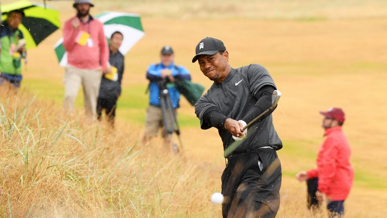 Tiger Woods remained at level par after recovering from a tough start