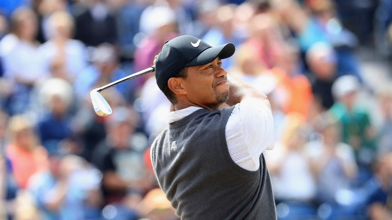 during the third round of the 147th Open Championship at Carnoustie Golf Club on July 21, 2018 in Carnoustie, Scotland.