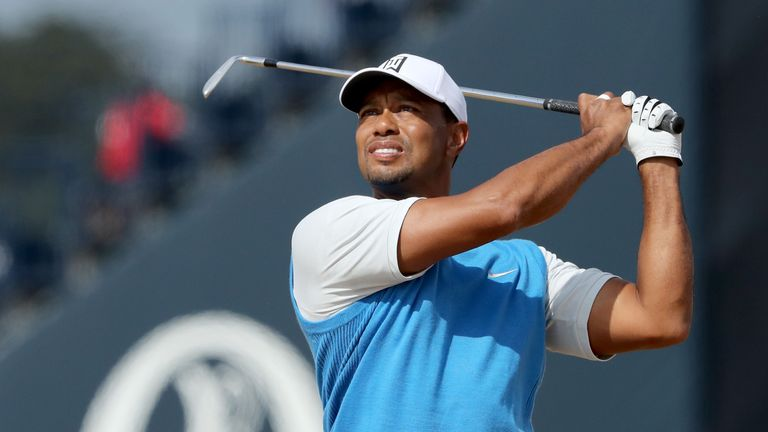 Woods is five off the pace after the opening round