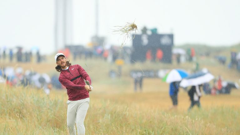 during the second round of the 147th Open Championship at Carnoustie Golf Club on July 20, 2018 in Carnoustie, Scotland.
