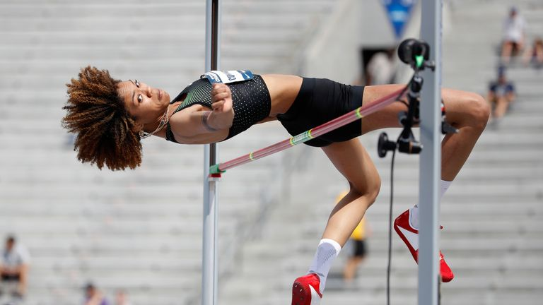 Cunningham's high jump performances have made her one of the sport's biggest names