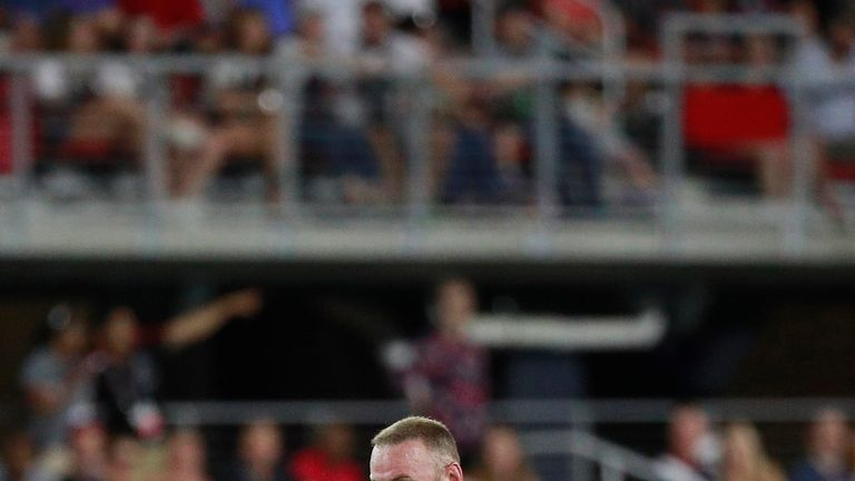 Wayne Rooney endured a difficult evening on his MLS debut