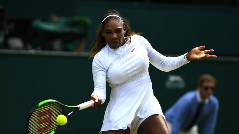 Serena Williams was in complete control on Centre Court