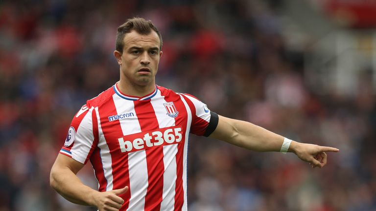 Shaqiri made 36 Premier League appearances for Stoke last season, scoring eight goals