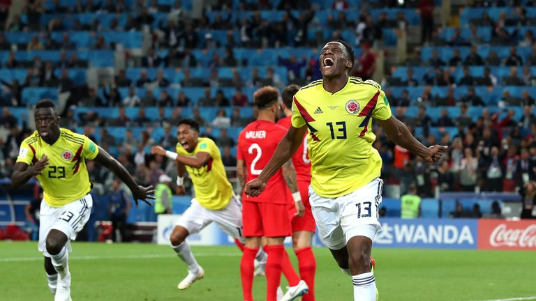 Yerry Mina caught the eye at the World Cup with impressive performances