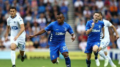 Rangers striker Alfredo Morelos missed Thursday's draw with Villareal through suspension