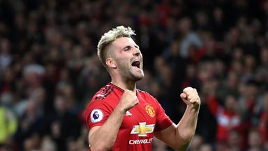 Luke Shaw has started seven of Manchester United