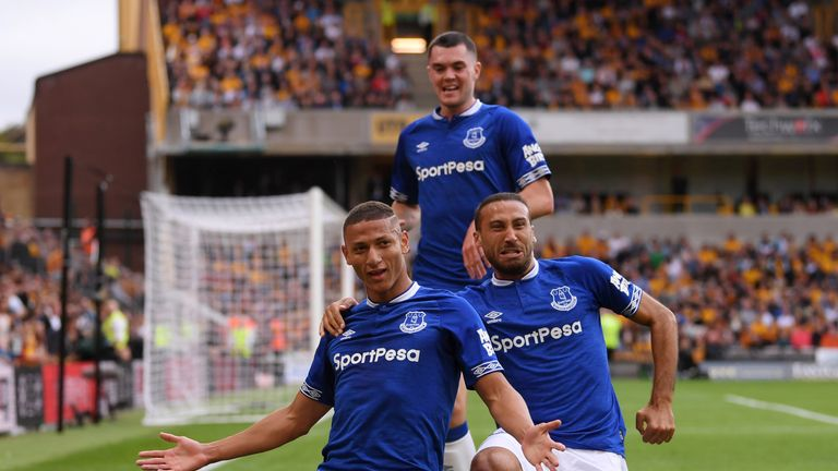 Richarlison scored twice on his Everton debut