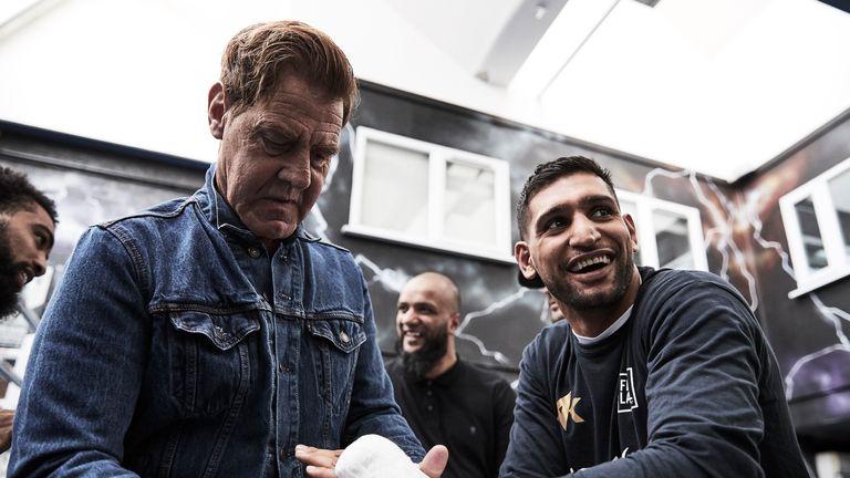 Khan with new trainer Joe Goossen