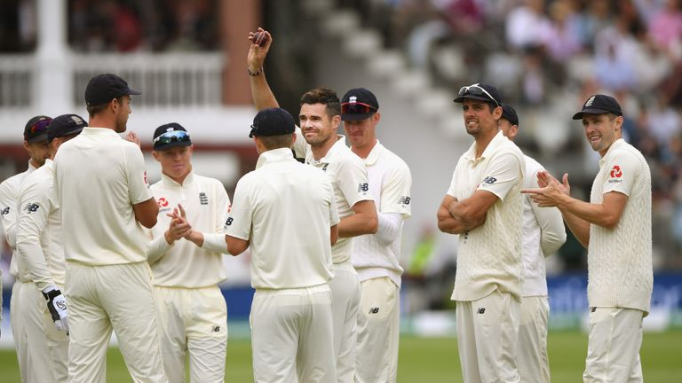 Anderson took his 26th five-wicket haul in Tests with 5-20 on day two at Lord's
