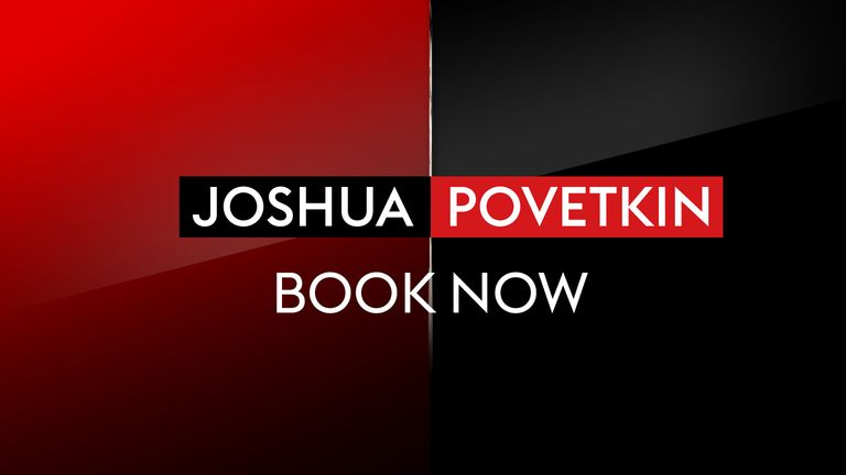 JOSHUA V POVETKIN - BOOK NOW