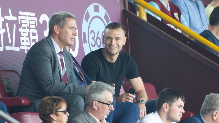 Ben Gibson watched on after joining from Middlesbrough