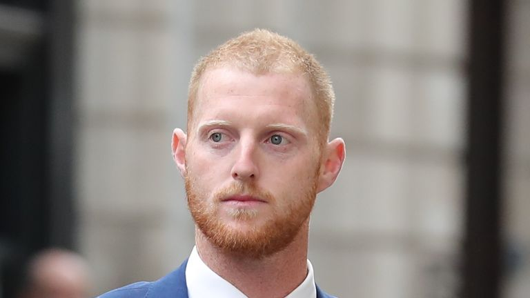 Ben Stokes arrives at Bristol Crown Court ahead of day four of trial