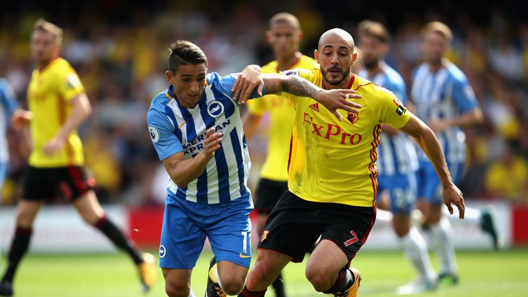 Brighton were held to a goalless draw by 10-man Watford last season