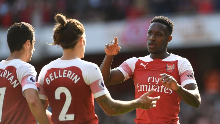Danny Welbeck was on target for Arsenal