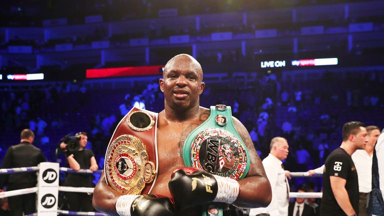 Dillian Whyte is the front runner for a fight against Anthony Joshua at Wembley in April