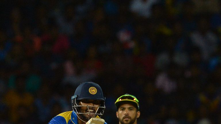 Dinesh Chandimal crucially hit an unbeaten 36 in Sri Lanka's T20I win