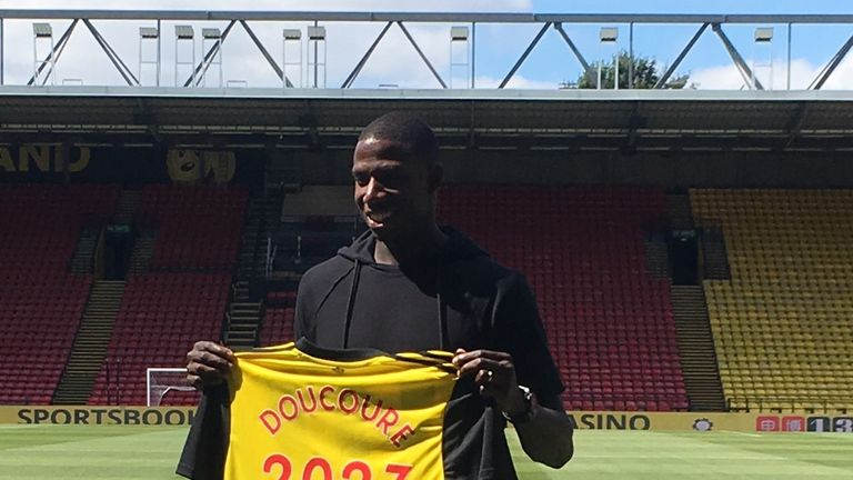 Abdoulaye Doucoure signed a new five-year deal at Watford this summer
