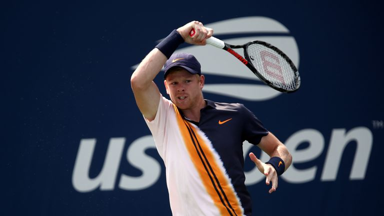 Kyle Edmund was facing Paolo Lorenzi for the first time in his career